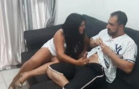 Sexo com brasileira casada gostosa quicando no pau